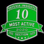 Patexia 10 Most Active 2020